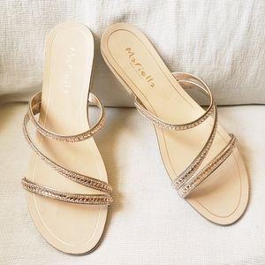 Mariella crystal strappy sandals, 10